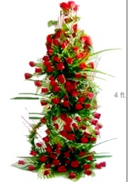 Four Foot Tall Arrangement of 100 Red Roses