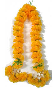 Small Marigold Mala for Puja