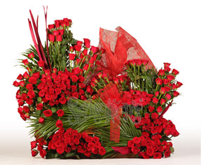 Tall Arrangement of 200 Red Roses