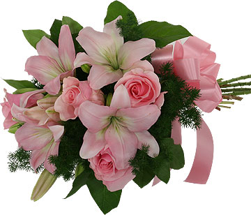 Pink roses Pink Lilies Bouquet