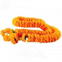 7 Feet Long strand of marigold flowers garland
