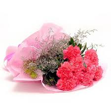 8 Pink Carnations bouquet