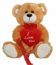 Love heart with Teddy Bear (12 inches)