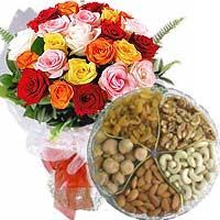 1 Kg Assorted Dryfruit 12 mix roses