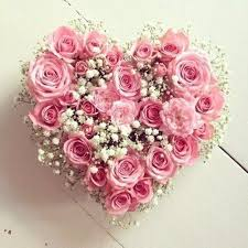 36 Pink Roses Heart